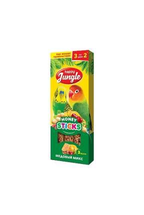 Лакомства для птиц Happy Jungle Микс 3 вкуса, 50 г