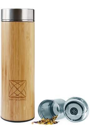 Термокружка из бамбука с заварником и фильтром