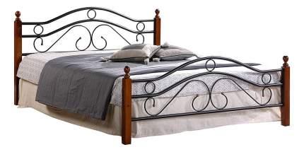 Кровать двуспальная TetChair AT-803 160х200 см, красный/черный