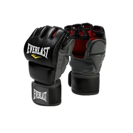 Боксерские перчатки тренировочные Everlast Grappling черные 8 унций