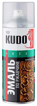 Эмаль Kudo Молотковая По Ржавчине Серебристо-Серо-Коричневая 520 Мл KU-3005