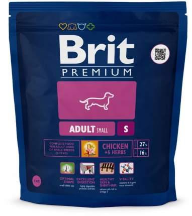 Сухой корм для собак Brit Premium Adult S, для мелких пород, курица, 1кг