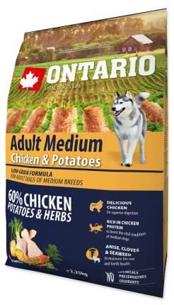 Сухой корм для собак Ontario Adult Medium, для средних пород, курица и картофель, 2,25кг