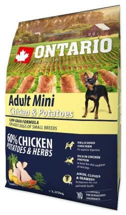 Сухой корм для собак Ontario Adult Mini, для мелких пород, курица и картофель, 2,25кг