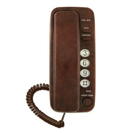 Телефон проводной teXet TX-226 Brown Marble