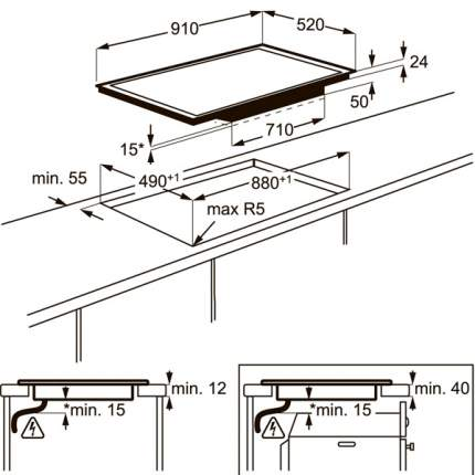 Встраиваемая варочная панель индукционная Electrolux EHH99967FZ Black