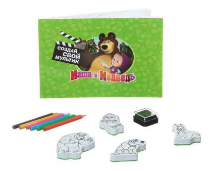 Набор для творчества Bondibon маша и медведь. творчество со штампами. вв1329