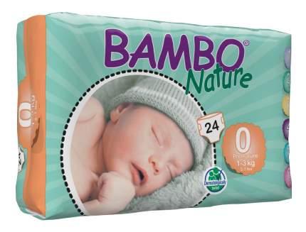 Подгузники для новорожденных Bambo Nature Premature (1-3 кг), 24 шт.