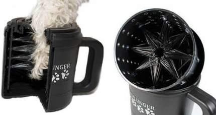 Лапомойка для собак Paw Plunger PAW170 Средняя, пластик, силикон, черный