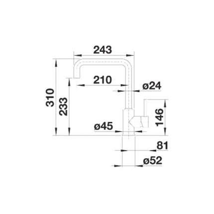 Смеситель для кухонной мойки Blanco LIVAS 519615 хром