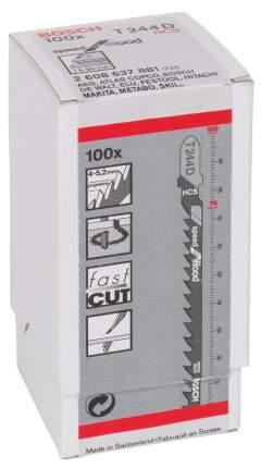 Набор пилок для лобзика Bosch T 244 D,HCS 2608637881