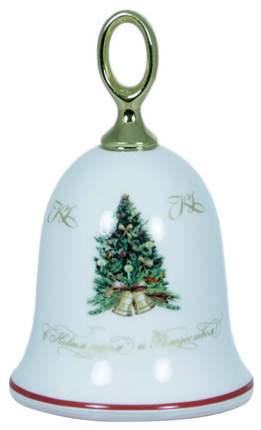 Елочная игрушка Kuchenland Колокольчик Рождественское чудо 12,5 см Белый