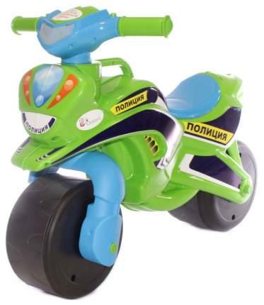 Каталка детская Doloni байк Полиция зелено-голубой (0139/52)