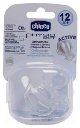 Пустышка силиконовая Chicco Physio Soft 12 мем
