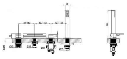 Смеситель для ванны на борт Ravak CR 025,00