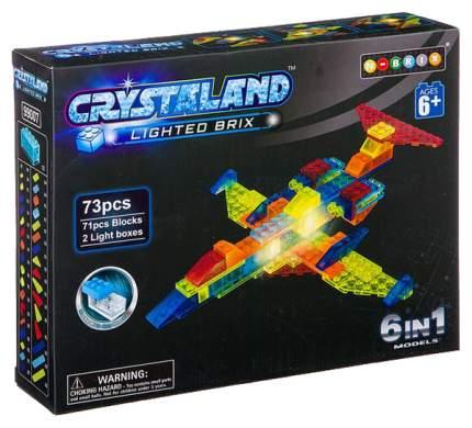 Конструктор пластиковый Crystaland Светящийся 6 в 1 Самолет, 73 деталей