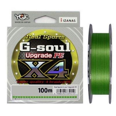 Леска плетеная YGK G-Soul Upgrade PE X4 150 м разноцветная 0,165 мм