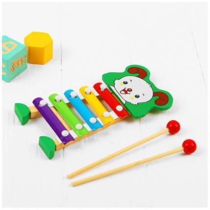 Металлофон игрушечный Sima-Land Собачка 3567127