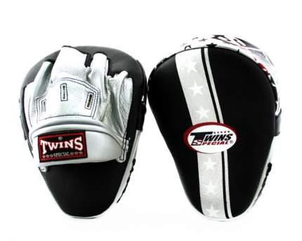 Лапы боксерские TWINS FPML10-51 черно-серебрянные