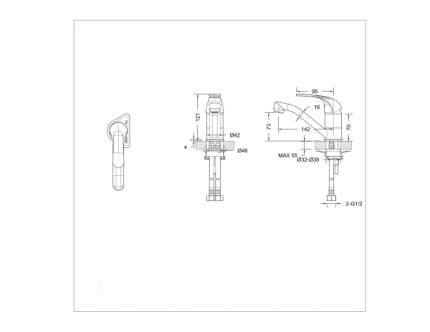 Смеситель для раковины BRAVAT F1233188CP-RUS