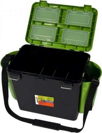 Рыболовный ящик Тонар Helios FishBox 19 л односекционный черно-зеленый