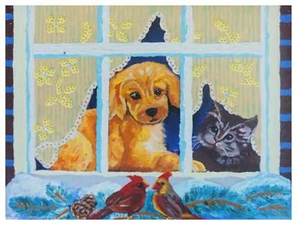 Живопись по номерам Color Kit Глядя в зимнее окно BM004