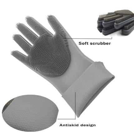 Резиновые перчатки цвет серый