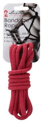 Веревка для шибари Lux Fetish хлопковая красная 3 м