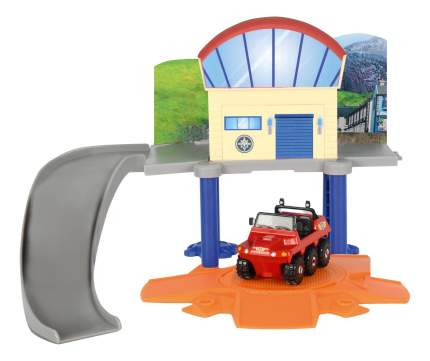 Маленький морской гараж Dickie Пожарный сэм + 1 машинка