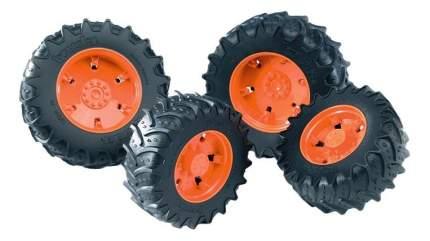 Шины Bruder для сдвоенных колёс с оранжевыми дисками 4 шт. 12,5 см