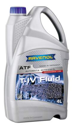 Трансмиссионное масло RAVENOL ATF T-IV Fluid 4л 1212102-004-01-999