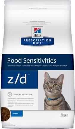 Сухой корм для кошек Hill's Prescription Diet Food Sensitivities, гипоаллергенный, 2кг