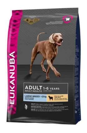 Сухой корм для собак Eukanuba Adult Large Breed, для крупных пород, ягненок, 12кг
