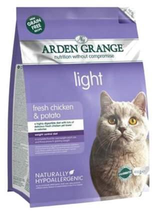 Сухой корм для кошек Arden Grange Light, беззерновой диетический, курица, 0,4кг