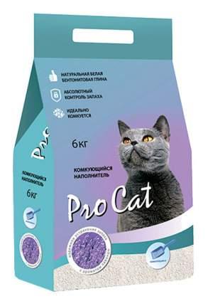 Комкующийся наполнитель для кошек Pro Cat бентонитовый, лаванда, 6 кг, 24 л