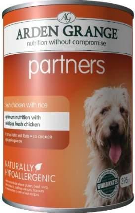 Консервы для собак ARDEN GRANGE, курица, рис, 6шт по 395г