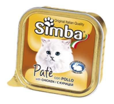 Консервы для кошек Simba, курица, 32шт, 100г