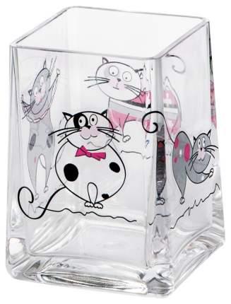 Стакан для зубных щеток Tatkraft Acryl Funny Cats 12950 Прозрачный