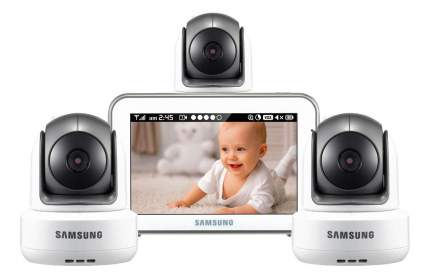 Видеоняня Samsung SEW-3043WPX3 с тремя камерами