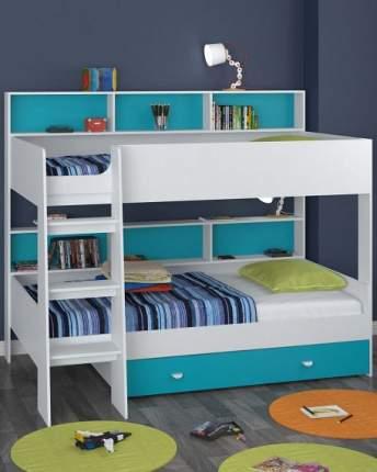 Двухъярусная кровать Golden Kids 1 белая/голубая