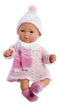Кукла Arias Elegance в вязаном костюмчике розовая, 28 см
