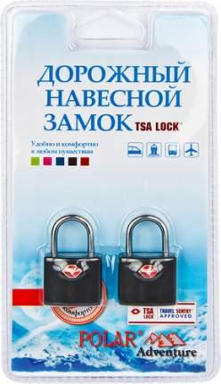 Замок для багажа навесной с ключами Polar черный 2 шт. 800507