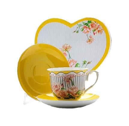 Чайная пара Mayer&Boch Садовые розы 22989 Желтый, белый