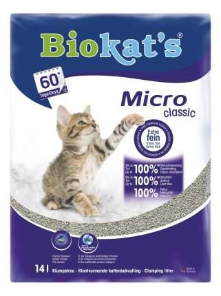 Наполнитель Biokat's Micro комкующийся 14 л
