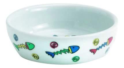 Одинарная миска для кошек Beeztees, керамика, белый, 0.2 л