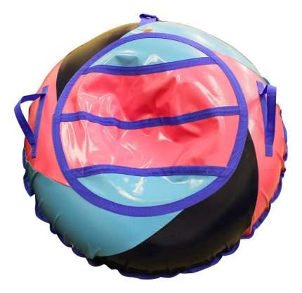 Тюбинг детский Belon Тент-спираль 100 см розовый/сине-голубой