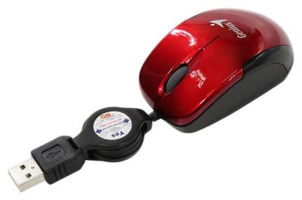 Проводная мышка Genius Micro Traveler Super Mini Red/Black (31010125103)