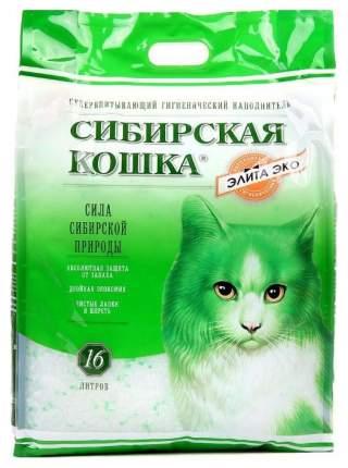 Впитывающий наполнитель для кошек Сибирская кошка Элита ЭКО силикагелевый, 7.3 кг, 16 л