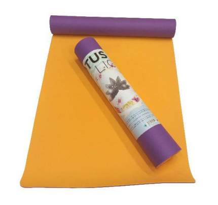 Коврик для йоги RamaYoga Лотос Light фиолетовый 4 мм