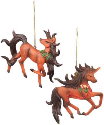 Елочная игрушка Billiet Лошадка-Единорог Рождественский 867008 12 см 1 шт.
